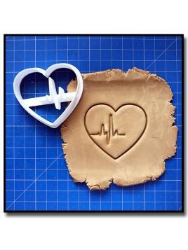 Coeur Battement 001 - Emporte-pièce pour pâtes à sucre et sablés sur le thème Amour