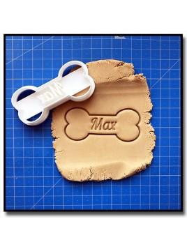 Os de chien & Prénom 001 - Emporte-pièce pour pâtes à sucre et sablés sur le thème Pat Patrouille