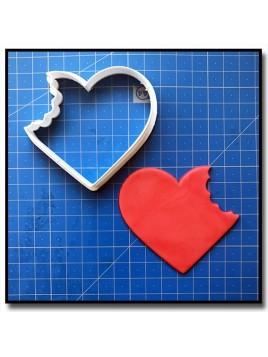 Coeur Croqué 201 - Emporte-pièce pour pâtes à sucre et sablés sur le thème Amour