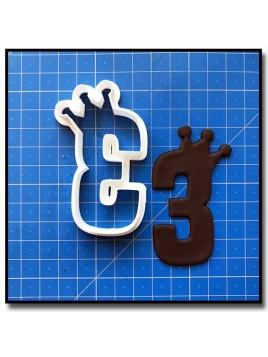 Princesse Typographie 201 - Emporte-pièce pour pâtes à sucre et sablés sur le thème Princesse