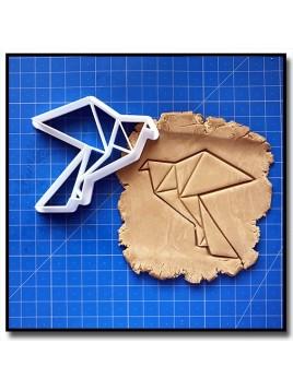 Aigle Origami 001 - Emporte-pièce pour pâtes à sucre et sablés sur le thème Origami