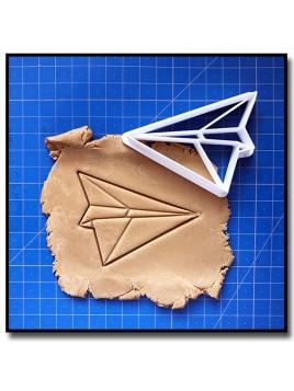 Avion Origami 001 - Emporte-pièce pour pâtes à sucre et sablés sur le thème Origami