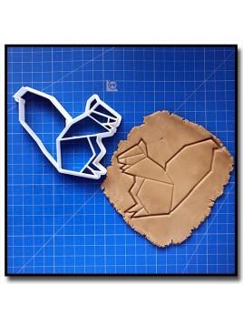Ecureuil Origami 001 - Emporte-pièce pour pâtes à sucre et sablés sur le thème Origami