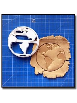 Monde 001 - Emporte-pièce pour pâtes à sucre et sablés sur le thème Voyage