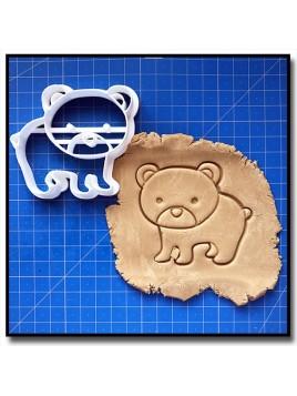 Ours 001 - Emporte-pièce pour pâtes à sucre et sablés sur le thème Animaux de la forêt
