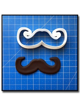 Moustache 201 - Emporte-pièce pour pâtes à sucre et sablés sur le thème Moustache & Noeud Pap