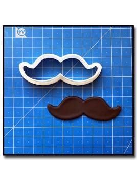 Moustache 202 - Emporte-pièce pour pâtes à sucre et sablés sur le thème Moustache & Noeud Pap