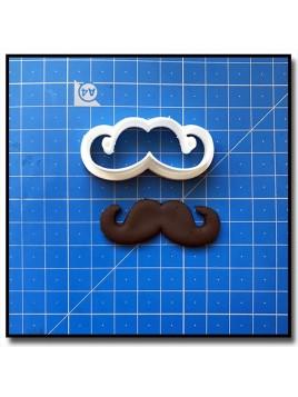 Moustache 203 - Emporte-pièce pour pâtes à sucre et sablés sur le thème Moustache & Noeud Pap