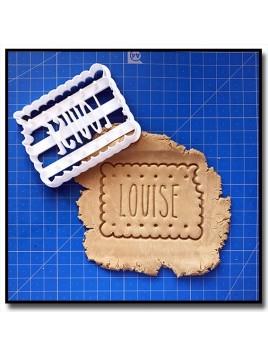 Petit biscuit & Prénom 001 - Emporte-pièce pour pâtes à sucre et sablés sur le thème Personnalisée