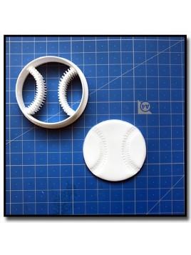 Balle de Baseball 001 - Emporte-pièce pour pâtes à sucre et sablés sur le thème Sports