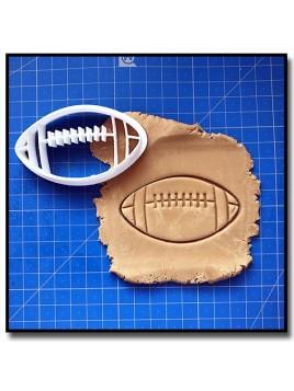 Ballon de Football Américain 001 - Emporte-pièce pour pâtes à sucre et sablés sur le thème Sports