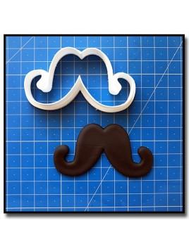 Moustache 204 - Emporte-pièce pour pâtes à sucre et sablés sur le thème Moustache & Noeud Pap
