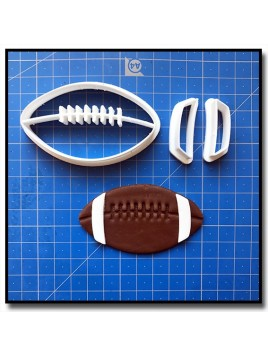Ballon de Football Américain 101 - Emporte-pièce en Kit pour pâtes à sucre et sablés sur le thème Football