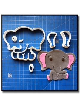 Éléphant Bébé 101 - Emporte-pièce en Kit pour pâtes à sucre et sablés sur le thème Safari