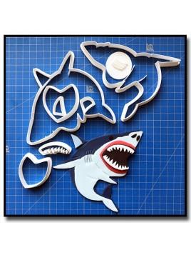 Requin 101 - Emporte-pièce en Kit pour pâtes à sucre et sablés sur le thème Mer & Océan