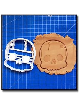 Tête de Mort 001 - Emporte-pièce pour pâtes à sucre et sablés sur le thème Pirate