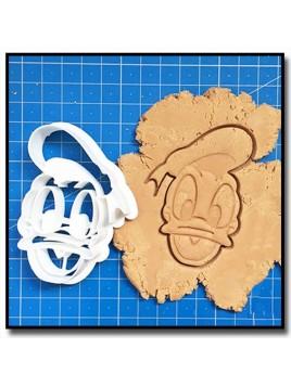 Donald Duck Visage 001 - Emporte-pièce pour pâtes à sucre et sablés sur le thème La bande de Mickey