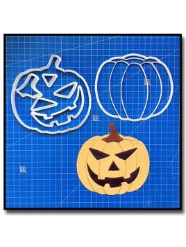 Citrouille d'Halloween 101 - Emporte-pièce en Kit pour pâtes à sucre et sablés sur le thème Halloween