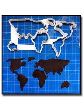 Carte du Monde 201 - Emporte-pièce pour pâtes à sucre et sablés sur le thème Voyage