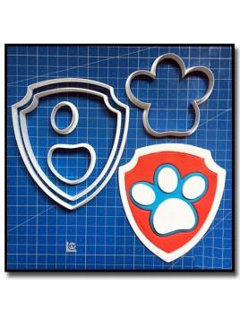 Logo Badge Pat Patrouille 101 - Emporte-pièce en Kit pour pâtes à sucre et sablés sur le thème Pat Patrouille