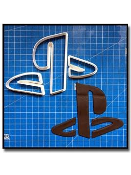 Playstation Logo 101 - Emporte-pièce en Kit pour pâtes à sucre et sablés sur le thème Jeux Vidéos