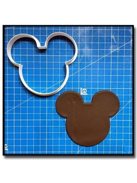 Mickey Visage 201 - Emporte-pièce pour pâtes à sucre et sablés sur le thème La bande de Mickey