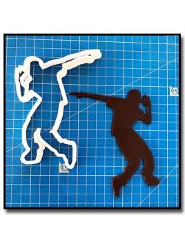 Danseur de Hip-Hop 203 - Emporte-pièce pour pâtes à sucre et sablés sur le thème Danse