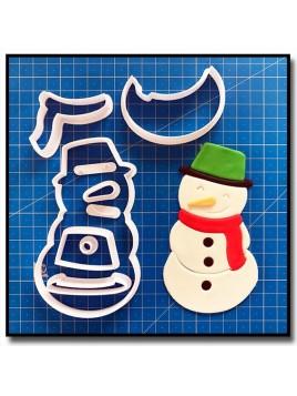 Bonhomme de neige 101 - Emporte-pièce en Kit pour pâtes à sucre et sablés sur le thème Noël