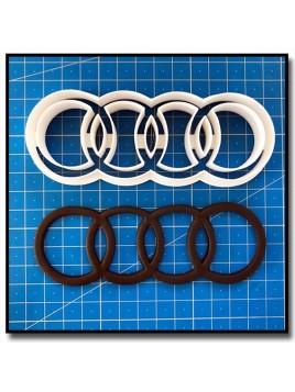 Audi Logo 201 - Emporte-pièce pour pâtes à sucre et sablés sur le thème Voiture