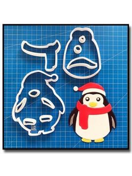 Pingouin de Noël 101 - Emporte-pièce en Kit pour pâtes à sucre et sablés sur le thème Noël