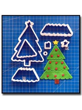 Sapin 101 - Emporte-pièce en Kit pour pâtes à sucre et sablés sur le thème Noël
