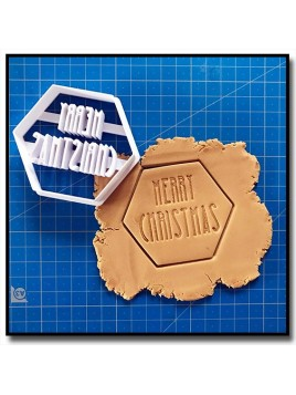 Merry Christmas 001 - Emporte-pièce pour pâtes à sucre et sablés sur le thème Noël