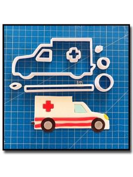 Ambulance 101 - Emporte-pièce en Kit pour pâtes à sucre et sablés sur le thème Médical