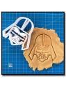 Dark Vador 001 - Emporte-pièce pour pâtes à sucre et sablés sur le thème Star Wars