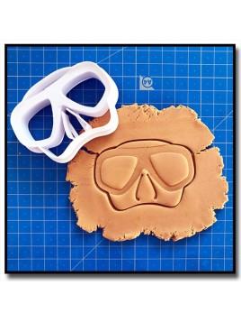 Masque de plongée 001 - Emporte-pièce pour pâtes à sucre et sablés sur le thème Mer & Océan