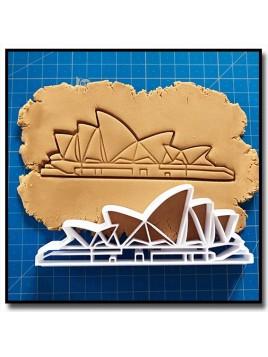 Sydney Opera House 001 - Emporte-pièce pour pâtes à sucre et sablés sur le thème Voyage
