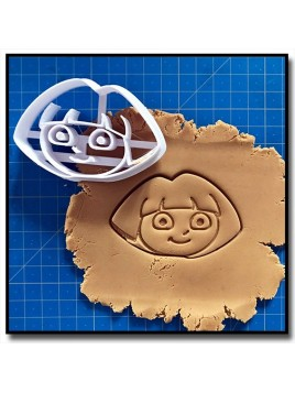 Dora Visage 001 - Emporte-pièce pour pâtes à sucre et sablés sur le thème Dessin Animés