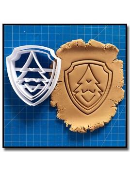 Everest Badge Pat Patrouille 001 - Emporte-pièce pour pâtes à sucre et sablés sur le thème Pat Patrouille