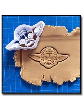 Yoda 001 - Emporte-pièce pour pâtes à sucre et sablés sur le thème Star Wars