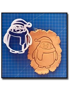 Pingouin de Noel 001 - Emporte-pièce pour pâtes à sucre et sablés sur le thème Noël