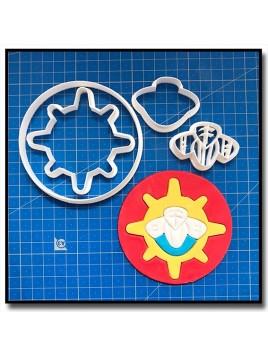 Sam le Pompier Logo 101 - Emporte-pièce en Kit pour pâtes à sucre et sablés sur le thème Dessin Animés