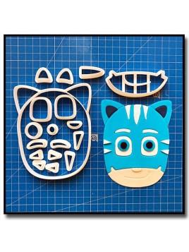 Yoyo / Catboy Pyjamasques 101 - Emporte-pièce en Kit pour pâtes à sucre et sablés sur le thème Dessin Animés
