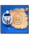 Gluglu / Gekko Pyjamasques 001 - Emporte-pièce pour pâtes à sucre et sablés sur le thème Dessin Animés