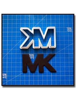 MK Logo 202 - Emporte-pièce pour pâtes à sucre et sablés sur le thème Mode & Fashion