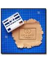 Bague & Prénom 001 - Emporte-pièce pour pâtes à sucre et sablés sur le thème Mariage