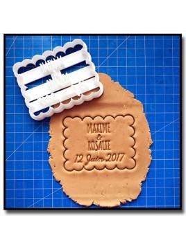 Petit Beurre, Prénoms & Date 002 - Emporte-pièce pour pâtes à sucre et sablés sur le thème Personnalisée