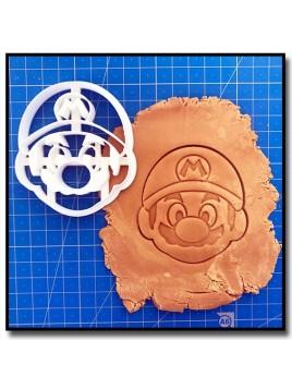 Mario 002 - Emporte-pièce pour pâtes à sucre et sablés sur le thème Super Mario