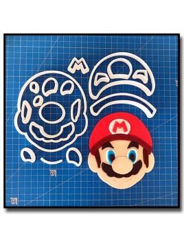 Mario 102 - Emporte-pièce en Kit pour pâtes à sucre et sablés sur le thème Super Mario