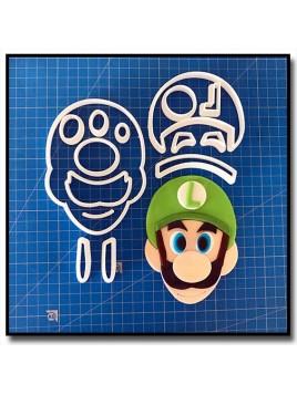 Luigi 102 - Emporte-pièce en Kit pour pâtes à sucre et sablés sur le thème Super Mario