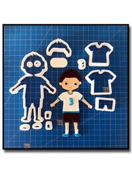Joueur de Football 101 - Emporte-pièce en Kit pour pâtes à sucre et sablés sur le thème Football
